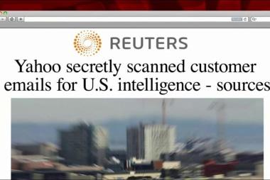 Report: Yahoo secretly scanned emails