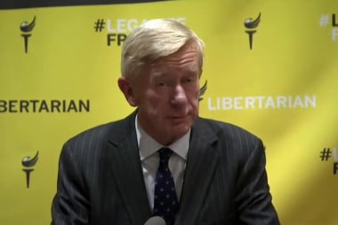 Is Bill Weld with her?