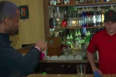 Braving Hurricane Matthew at a Florida bar