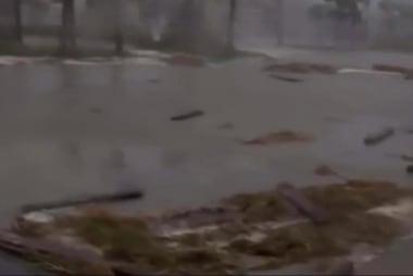 Storm surge hits Jacksonville Beach, Florida