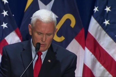 Pence shares bleak outlook on US security