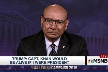 Khizr Khan reacts to Trump's debate comments