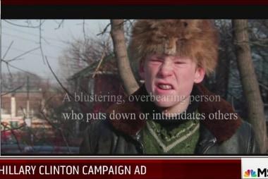 Clinton portrays Trump as bully in new ad