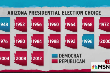 Clinton sees chance to turn red Arizona blue