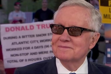 Sen. Reid: Actions speak louder than words