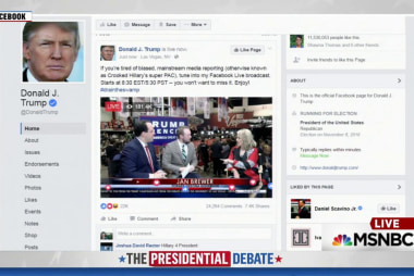 Trump launches own pre-debate broadcast