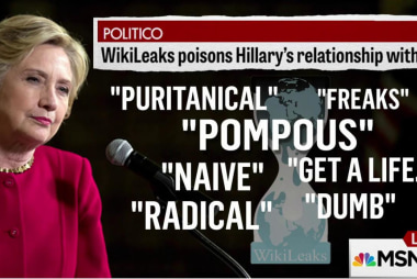 Politico: WikiLeaks emails hurting Clinton...