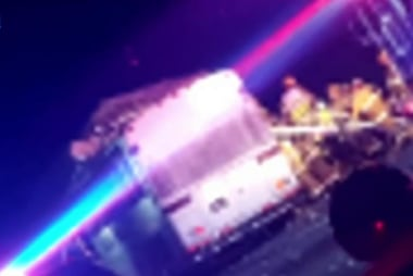 Tour bus crashes into a big rig in Palm...