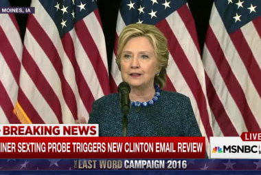 Reporters ask Clinton about top aide