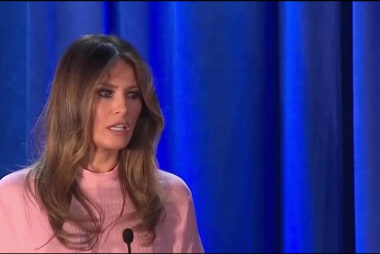 Melania Trump finally speaks at Trump rally