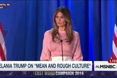 Melania Trump: Our culture is too 'mean'