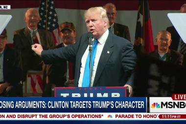 Trump questions idea of Clinton as...