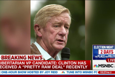 Bill Weld: Clinton received 'raw deal'