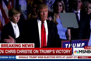 Christie: 'Mutual respect' after election...