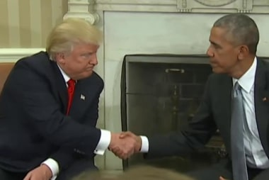 Obama 'encouraged' by Trump's meeting