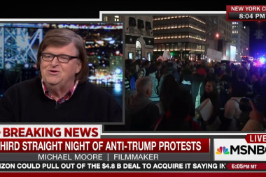 Michael Moore: Get out and protest
