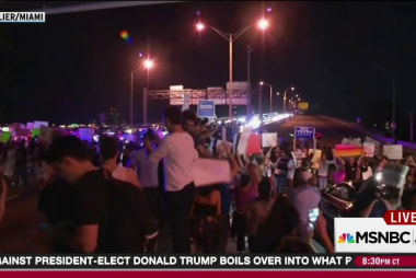 Miami traffic siezed with anti-Trump protests