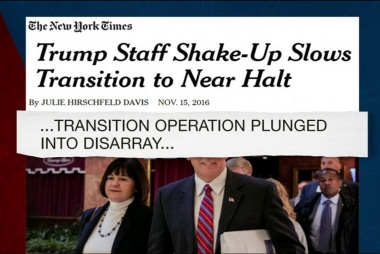 Trump's transition team chaos