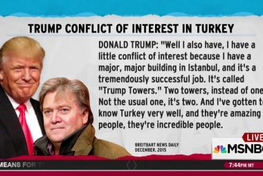 Trump saw Turkey conflict in Bannon interview