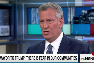 NYC mayor talks issues with Donald Trump