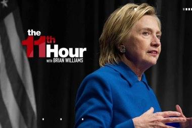 Clinton gets emotional during first speech...