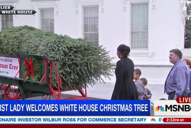 Michelle Obama welcomes Obamas' final WH...