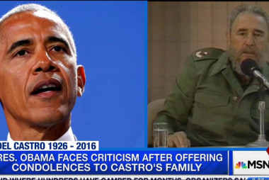 Fidel Castro's death politically polarizes