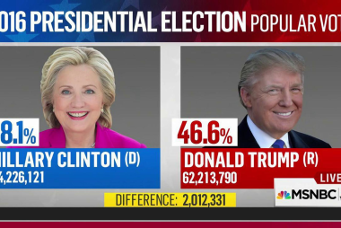 Few precedents for popular vote gap like 2016