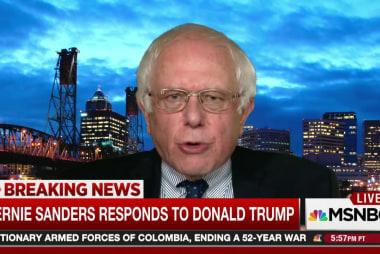 Sanders: Trump setting 'dangerous precedent'