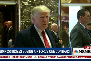 Trump takes on Boeing sending its stock...