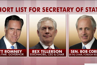 Is Tillerson the dark horse for state dept...
