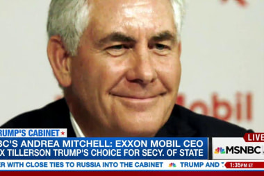 Tillerson 'a world class player and deal...