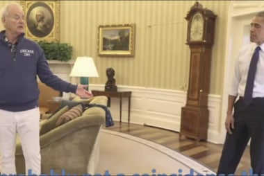 Bill Murray, Obama play golf in Oval Office