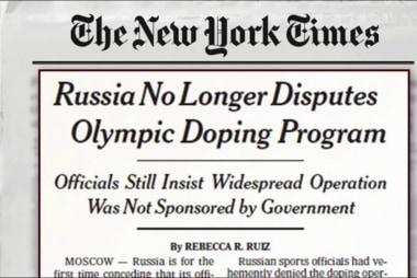 Russia admits to doping conspiracy