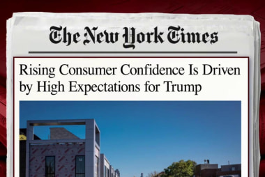 Trump thanks himself for consumer confidence