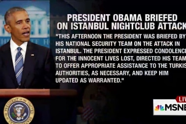 President Obama Briefed on Turkey Attack