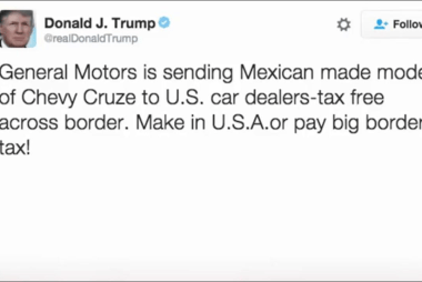 Trump takes aim at General Motors in tweet