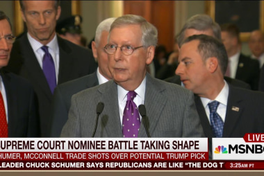 Political battle over Supreme Court nominee