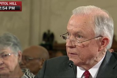 Sessions answers question about...