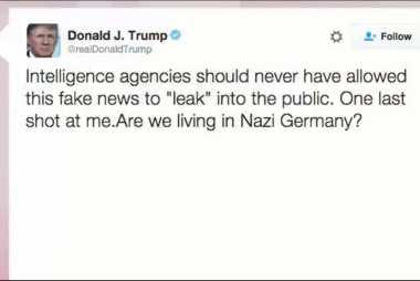 Trump tweets: 'Are we living in Nazi...
