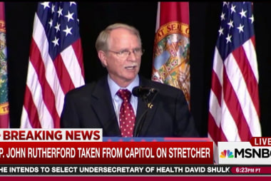 Congressman rushed to hospital after collapse
