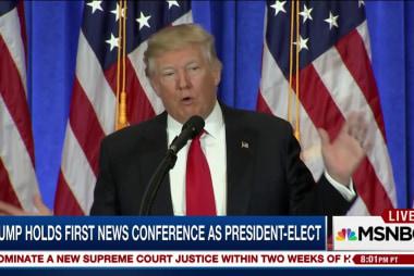 Trump packs news into first press...