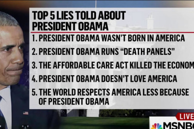 Top 5 lies told about Pres. Obama