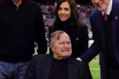 George H. W. Bush hospitalized in Houston