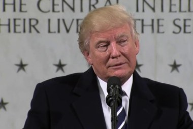 Trump veers off topic in CIA speech