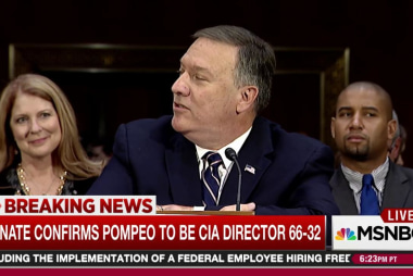 Pompeo confirmed as CIA director
