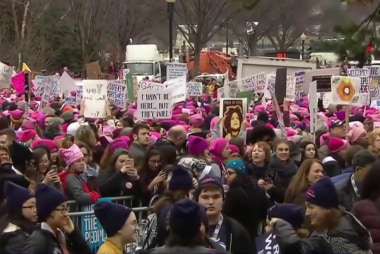'Something is happening': Women's march...