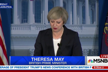 Theresa May Meeting with Pres Trump in...