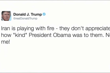 Trump's Friday tweet: 'Iran is playing...