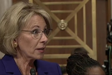 Trump Education Secy. pick hangs in the...
